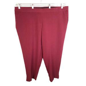 Dressbarn Roz Ali Plus Size 22W Pants Maroon JKM